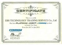 chứng nhận phân phối commax
